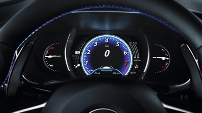 Renault MEGANE GT - close-up of instrument cluster