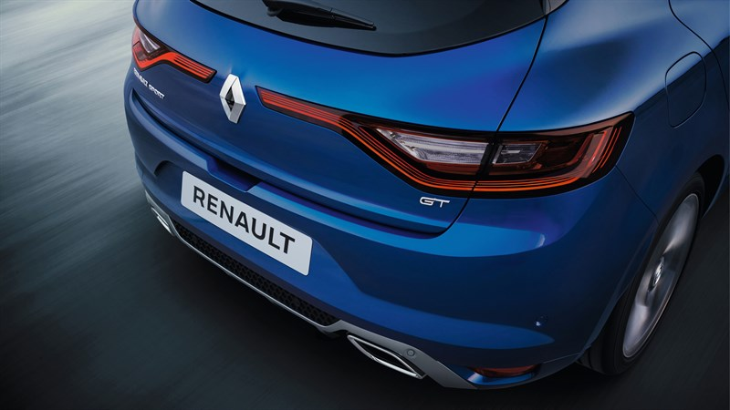 Renault MEGANE GT - close-up of the vehicle rear