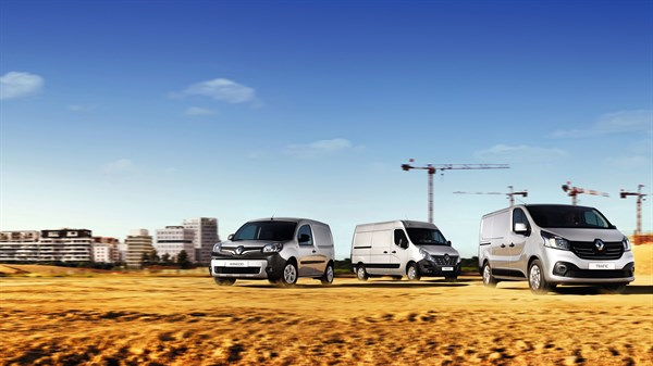 Showcasing Renault commercial vehicles