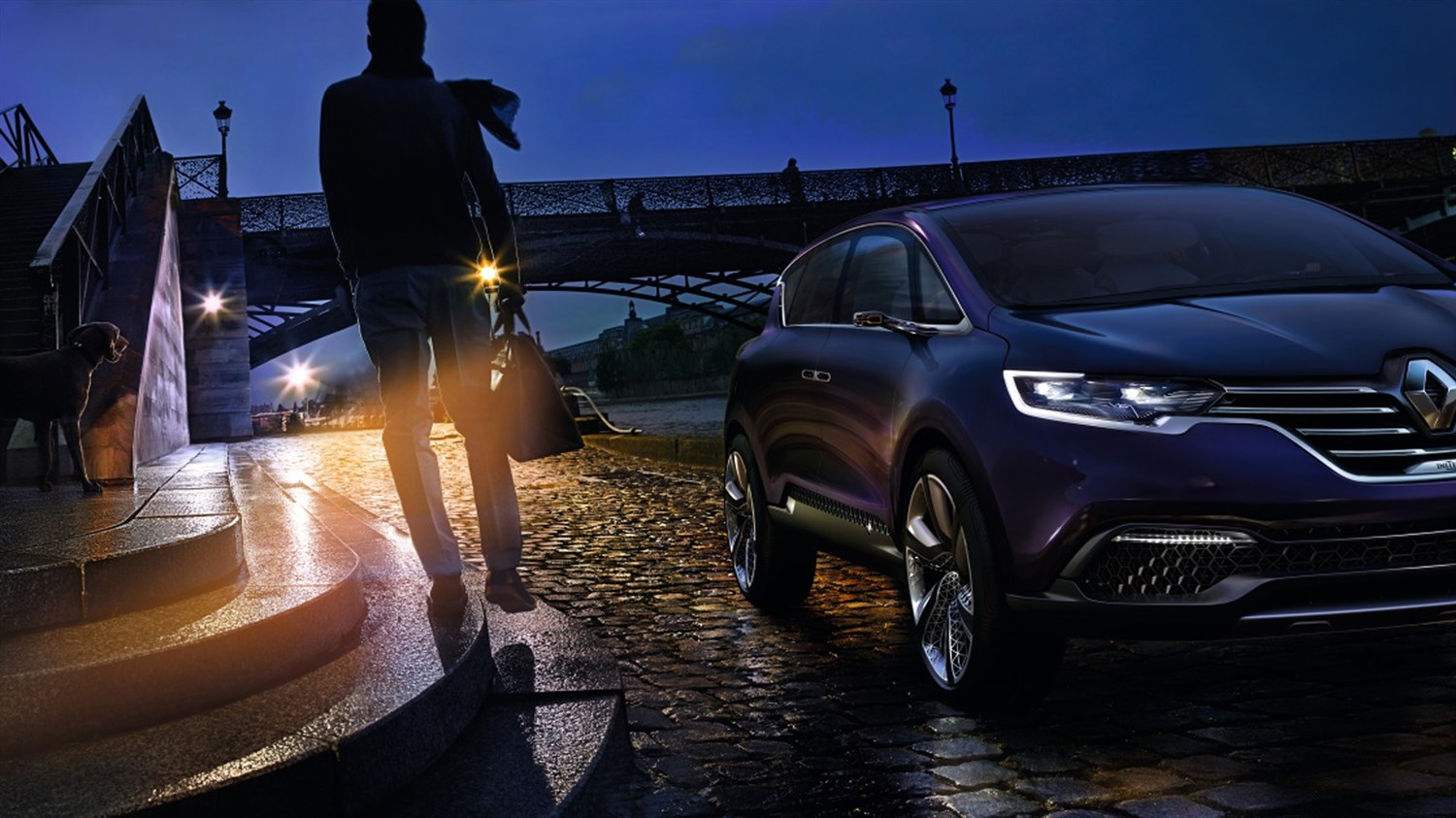 Renault INITIALE PARIS Concept - night-time view - banks of the Seine